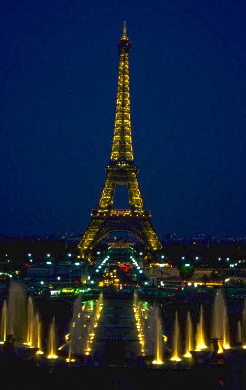 The Eiffel Tower in Paris France.