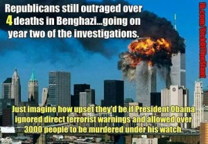 Republicans continue to whine over the Benghazi attacks while conveniently forgetting the massive security blunders of George W. Bush.