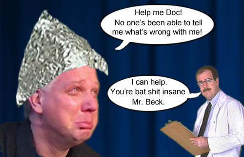 A doctor finally diagnoses Glenn Beck as being bat shit insane.