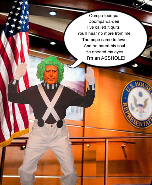 Pope Francis' visit to Congress opened Chief Oompa Loompa, John Boehner's eyes and helped him realize what a colossal asshole he has been.