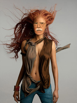John Bolton with a Tyra Banks makeover