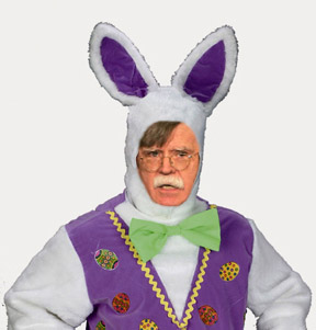 John Bolton with an Easter Bunny makeover.