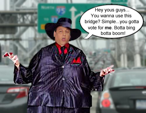 ChrisChristie says if you want to cross the George Washington bridge, a vote for Christie is in order