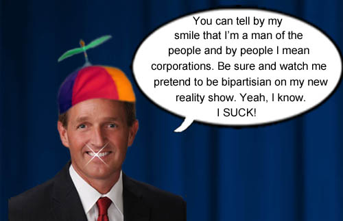 Arizona senator Jeff Flake is a man of the people, if by people you mean corporations and he will also pretend to be bipartisan on his new reality show when in reality he's extremely partisan.