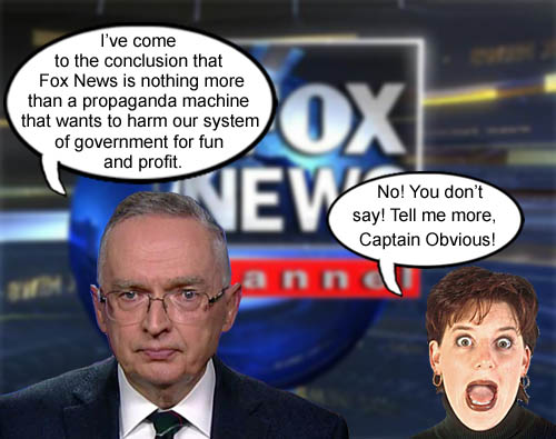 Conservative pundit, Ralph Peters, a.k.a. Captain Obvious, shocks the world by declaring Fox News to be nothing more than a propaganda machine for American CEO/Dictator Donald Trump and his gang of Republican party lackeys hellbent on destroying the government for fun and profit.