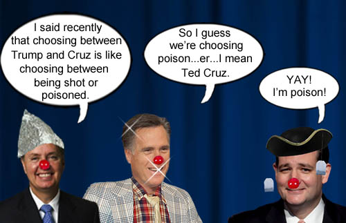 Lindsey Graham and Spiff Romney choose the poison that is Ted Cruz to be the GOP nominee.