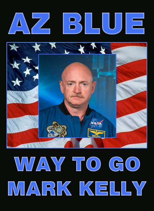 Congratulations to engineer, naval pilot, astronaut, author and now Democratic Senator from Arizona, Mark Kelly.