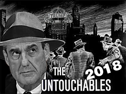 A reality reboot of the fantastic early 1960s crime drama. The Untouchables, is in the works with Robert Mueller leading his intrepid squad of FBI agents as they descend upon Trump Tower trying to bring to justice members of the current Republican crime syndicate like Paul Manafort, Michael Cohen and dear leader, Donald Trump.