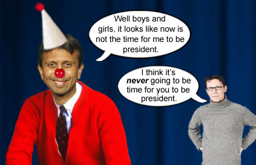 Bobby Jindal realizes that it will never be 'Jindal Time' in America