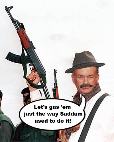 Saddam O'Reilly proclaims that we should kill 'em all just the way Saddam Hussein did.