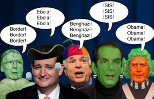 Republican ghouls McConnell, Cruz, McCain, Krauthammer and Boehner are scaring up votes from the electorate this Halloween.