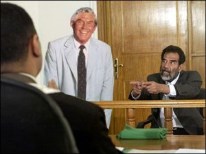 Saddam Hussein hires Matlock to be his defense lawyer