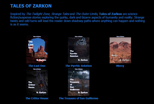Got the coronavirus quarantine blues? Read a book like one of S. Zarkon's Tales of Zarkon at szarkon.com.