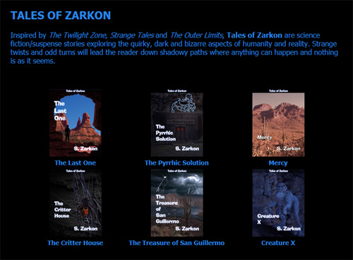 Got the blahs? Read a science fiction story like one of S. Zarkon's Tales of Zarkon at szarkon.com.