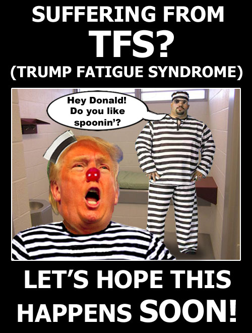 Donald Trump's new cellmate and friendly, loyal assistant asks if he likes spooning.