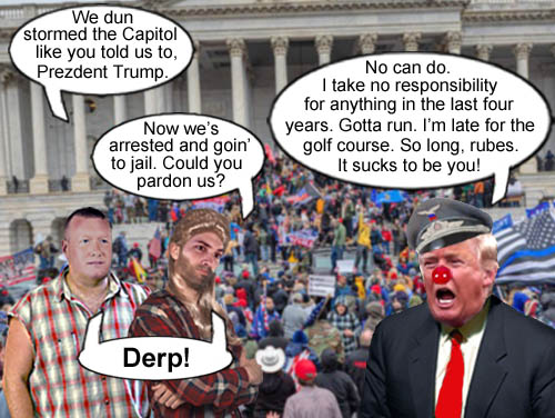 A couple of ardent, redneck Trump supporters find out the hard way that they were duped nine million ways to Sunday by megalomaniac man child Donald Trump.